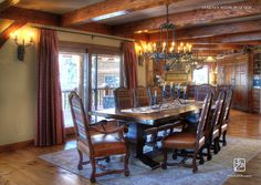 Ski in and Out Lodge Dining - farmhouse - dining room - Salt Lake City - Maraya Interior Design Ranch Style Homes, Ranch Homes, Dining Room Design, Dining Rooms, Interior Design Photos, Kitchen Nook, Conceptual Design, Room Pictures, Winter House