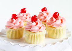 Cherry Limeade Cupcakes ~ http://iambaker.net