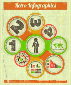 Creative Retro Infographic design vector 03