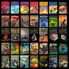 Several covers of Harry Potter around the world Harry Potter Book Covers, Harry Potter Movies, Harry Potter Christmas, Harry Potter Birthday, Harry Potter Miniatures, Book Nerd, Hp Book, Wreath Watercolor, Book Show