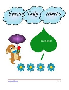 A great practice resource for tally marks in a cute spring theme. Five pages of tally marks practice for numbers 1-20.
