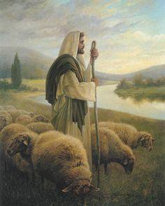 """""""The Good Shepherd"""" - painting by Greg Olsen"""