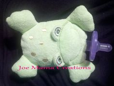 Frog Pacifier Baby by JoeMamaCreations on Etsy, $10.00