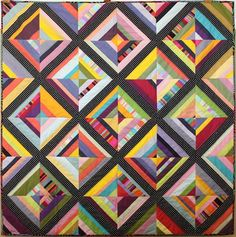 My strip quilt is similar to this, but mine is a zig-zag design.