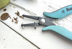 Hole Punch Pliers, 1.5mm - Long Reach Style.  These are the PERFECT Size For RIVETING - this shop has rivets, snaps, copper, nickle silver, etc for jewelry.