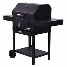 Giantex Outdoor Charcoal BBQ Grill Backyard Barbecue Cooking Smoker Deck Patio w/Casters -- To view further for this item, visit the image link.