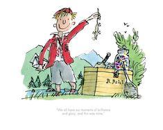 Quentin Blake & Roald Dahl - Boy: We all have our moments of brilliance Watercolor Illustration Children, Vintage Illustration Art, Boy Roald Dahl, Quentin Blake Illustrations, Art Prints Online, Kids Writing, Illustrators, Artist, Comic Art