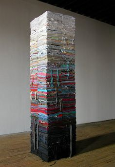 folded clothes by derick melander #art #recycling #upcycling