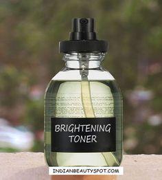 DIY Skin Brightening toner / mist