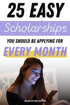 25 easy scholarships to help you pay for college. Apply up to 12 times to each one this year! Scholarships For College, College Students, College Life Hacks, College Hacks, Pa School, Graduate School, Medical Sites, College Necessities, School Scholarship