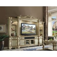 Shop a great selection of ACME Vendome Gold Patina Entertainment Center TV Stand. Find new offer and Similar products for ACME Vendome Gold Patina Entertainment Center TV Stand. Furniture Direct, Acme Furniture, Furniture Making, Media Furniture, Kitchen Furniture, Furniture Decor, Furniture Dolly, Classic Furniture, Furniture Outlet