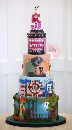 Zootropolis cake