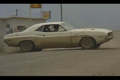 Vanishing Point 1970 Dodge Challenger: That's the legendary Carey Loftin behind the wheel. He didn't always wear the wig.