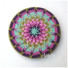 Atty's : Crochet Mandala Pot Coaster Tutorial