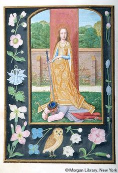 Interesting dress- Medieval Manuscript Images, Pierpont Morgan Library, Da Costa hours (MS M.399). MS M.399 fol.324v