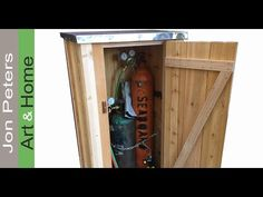 In this video I make a small outdoor cabinet / storage shed.The cabinet I'm making will store welding tanks but this cabinet is perfect as a tool shed. Outdoor Storage Cupboard, Rustic Outdoor Storage, Bike Storage Home, Diy Storage Bench, Garden Storage Shed, Cedar Shed, Wood Storage Cabinets, Bike Shed, Backyard Sheds