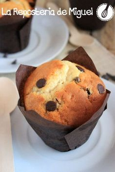 Muffins de yogurt con pepitas chocolatemu