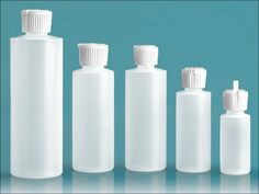 Plastic Bottles, Natural LDPE Cylinder Squeeze Bottles with Flip top Dispensing Caps