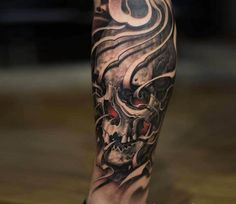 Skull tattoo by Victor Portugal