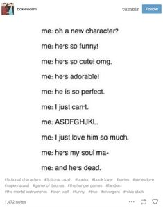 33 Tumblr Posts For Anyone Who Loves Fictional Characters More Than Real People
