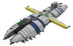 Lego Star Wars LDD INSTRUCTIONS -- Separatist Munificent-class Star Frigade (The Clone Wars)