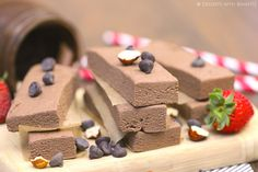 Healthy Nutella Fudge Protein Bars (sugar free, whole grain and vegan!)