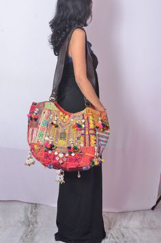 I want!! Vintage Banjara fabric clutch OOAK hand embroidered by IndianHippy, $129.00