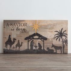 A Savior Is Born - Plank Wall Art | DaySpring