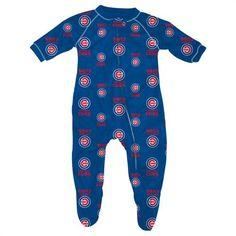 Baby Chicago Cubs Logo Pajamas