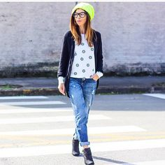 "Minha versão bem vida real de ""onde está wally?"" . Look by @ziann_jeans para @foccaj"