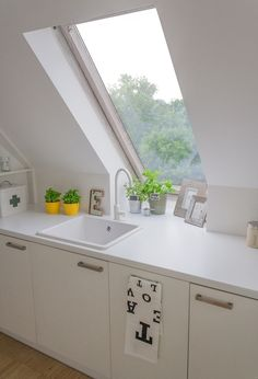 No matter how small your space, fitting a roof will give you the feel of space, as well as shedding more daylight into your home. You could even match the frame to your kitchen cupboards.
