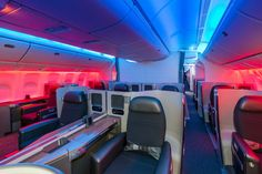 Every seat on the 777-300ER will feature individual 110-volt AC power outlets and USB jacks for charging personal electronic devices. (photo: First Class)