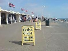 Fish and Chips at Littlehampton West Sussex England