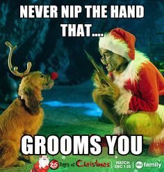 -Repinned- Dog grooming.... Grinch humor.