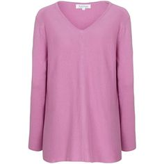Tulchan Trapeze Jumper (€35) ❤ liked on Polyvore featuring tops, sweaters, clearance, pink, v-neck top, jumpers sweaters, v neck jumper, pink tops and cotton sweaters