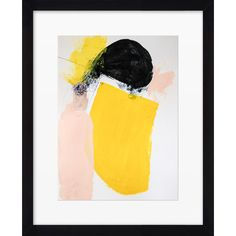 Add a bright touch to your den or gallery wall with this abstract giclee print from Artfully Walls.   Product: Framed giclee pri...