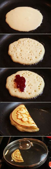 How to make stuffed pancakes. + various recipes. You may need to scroll down to see filling ideas.