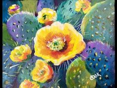 How to Paint a Cactus Flower in Acrylic Paints for Beginners with Ginger Cook - YouTube