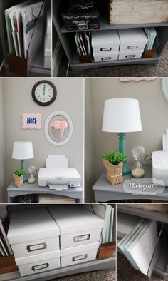 A Home Office Tour, organized home office ideas, home office redo, home office makeover, home office organization, office organization, office checklist, organized home office checklist, chalk paint, inexpensive ideas