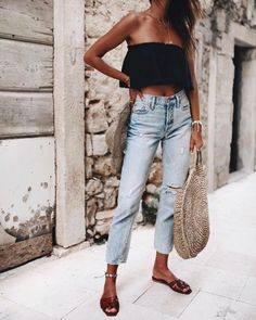 Perfect Summer Outfits That Always Looks Fantastic Trendy Outfits, Cute Outfits, Fashion Outfits, Womens Fashion, Fashion Week, Look Fashion, Fashion Mode, Estilo Jeans, Look Street Style