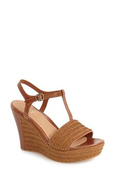 UGG® 'Fitchie' T-Strap Wedge Sandal (Women)