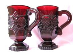 Avon Cape Cod Ruby Red Footed mugs!  I have a set of these and LOVE them!