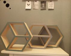 Shelves,Hexagon shelves, Set of three shelves
