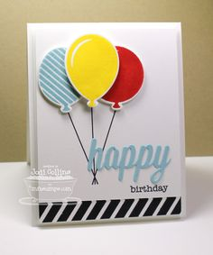 Party Balloons; Birthday Greetings; Bitty Banners; Jumbo Mod Borders; Party Balloons Die-namics; Happy Birthday Die-namics - Jodi Collins