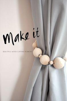 DIY Beautiful wooden curtain tie backs