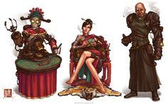 Gambling Den Concept by @jamesngart. #ImperialSteamAndLight #Steampunk #CharacterDesign