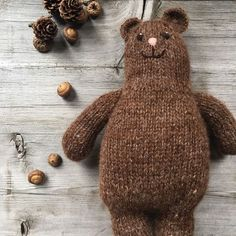 Otso the Bear Otso the cute round knitted bear! So sweet! A free knitting pattern from the blog London Loop Knit Lounge.