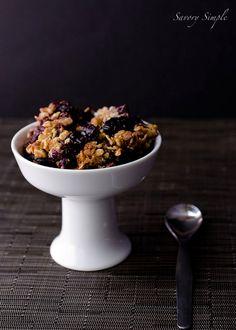 Blueberry Bourbon Crisp ~ Savory Simple