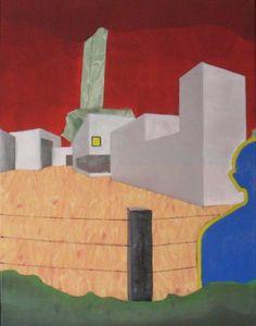'Triptych Leie Panel2' ('Drieluik Leie Luik2') - Oil on canvas (Olieverf op doek) - 23.62 in x 31.50 in '60 cm x 80 cm) - Feb 23, 2013 (23 februari 2013) - http://cobalus-schilderingen.blogspot.com