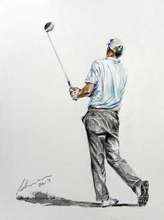 What Is the Correct Golf Swing? Golfers the world over are always in search of the perfect golf swing or the right golf swing. Golf Training Aids, Cardio Training, Golf Painting, Painting People, Painting Art, Golf Sport, Womens Golf Wear, Golf Card Game, Dubai Golf